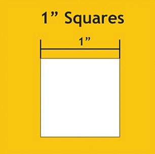 "1"" Squares Paper Pieces (150 per pack)"