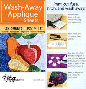 """Wash-Away Applique Sheets (25 sheets - 8.5"""" x 11"""") preview"""