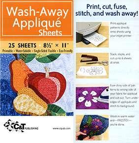 "Wash-Away Applique Sheets (25 sheets - 8.5"" x 11"")"