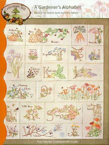 A Gardener's Alphabet - Block of the Month Pattern preview