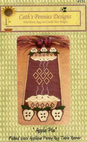 Apple Pie Penny Rug - Pattern preview