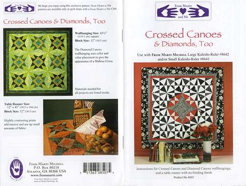 Crossed Canoes & Diamonds, Too Pattern by Marti Michell