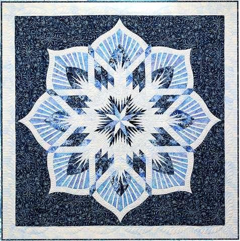 Frozen Fountain - Foundation Piecing Pattern by Quiltworx