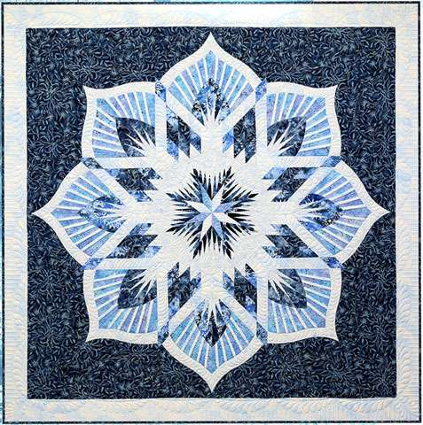 Frozen Fountain - Foundation Piecing Pattern by Quiltworx
