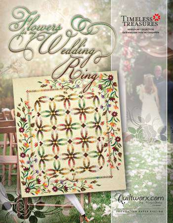 Flowers for my Wedding Ring - Foundation Paper Piecing Pattern preview