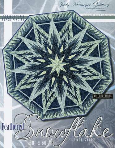 Feathered Snowflake Tree Skirt Pattern by Judy Niemeyer