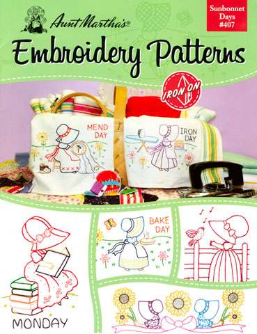 Aunt Martha's Sunbonnet Days - Iron-on Embroidery Patterns