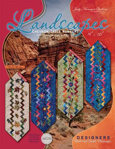 Landscapes Chevron Table Runners Pattern by Judy Niemeyer preview