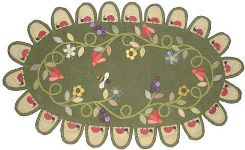 Ladybug's Walk Penny Rug Pattern by Ngaire Brooks preview