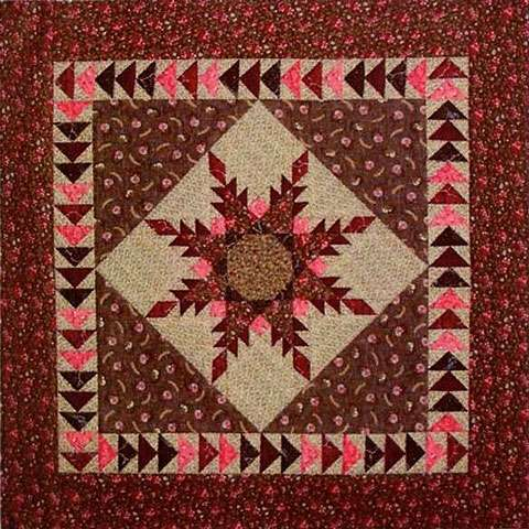Mini Feathered Star Pattern by Cindi Edgerton
