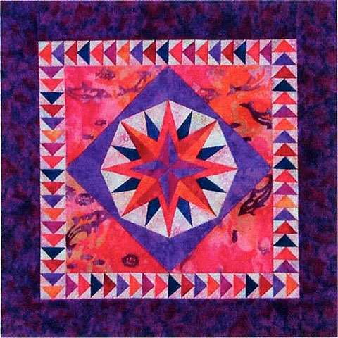 Mini Mariner's Compass Pattern by Cindi Edgerton