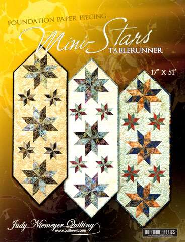 Mini Stars Table Runner Pattern by Judy Niemeyer