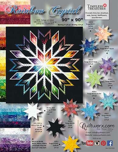 Rainbow Crystal Pattern by Judy Niemeyer
