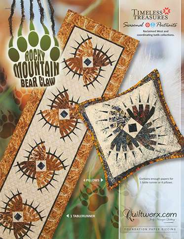 Rocky Mountain Bear Claw Table Runner Pattern preview