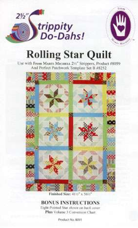 Rolling Star Quilt Pattern by Marti Michell