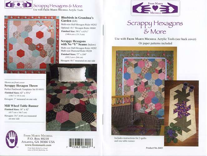 Scrappy Hexagons & More Pattern by Marti Michell