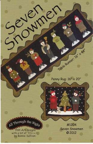 Seven Snowmen Pattern by Bonnie Sullivan