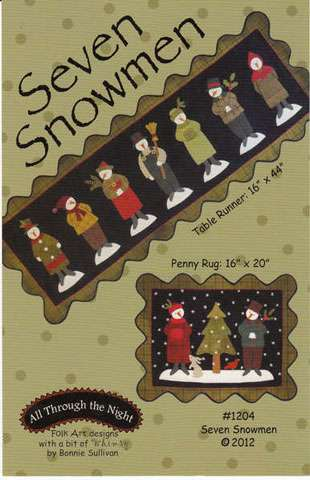 Seven Snowmen Pattern by Bonnie Sullivan preview