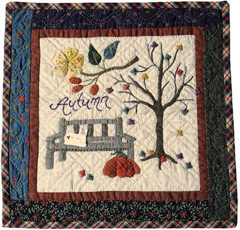 Autumn - Seasonal Wall Hanging Pattern by Ngaire Brooks