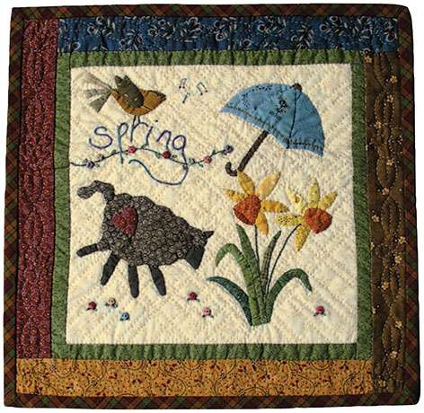 Spring - Seasonal Wall Hanging Pattern by Ngaire Brooks