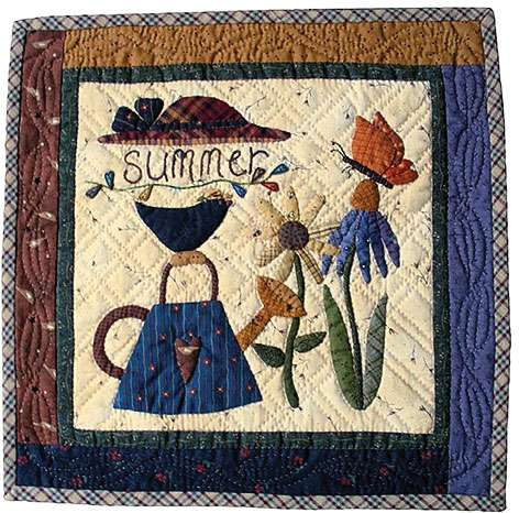 Summer - Seasonal Wall Hanging Pattern by Ngaire Brooks preview