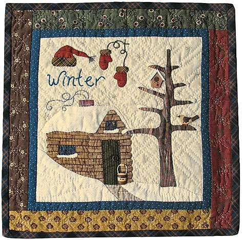 Winter - Seasonal Wall Hanging Pattern by Ngaire Brooks
