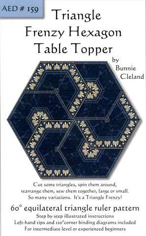 Triangle Frenzy Hexagon Table Topper Pattern by Bunnie Cleland preview