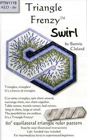 Triangle Frenzy Swirl Pattern by Bunnie Cleland preview