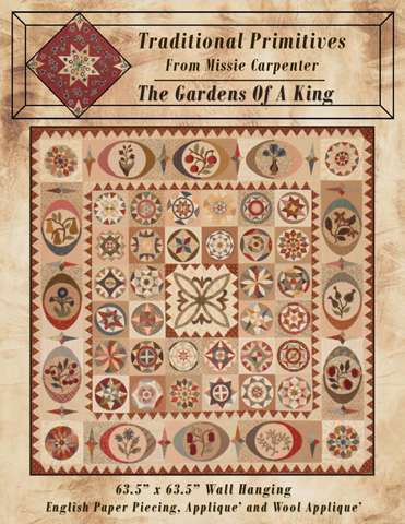 The Gardens of a King Pattern by Traditional Primitives from Missie Carpenter