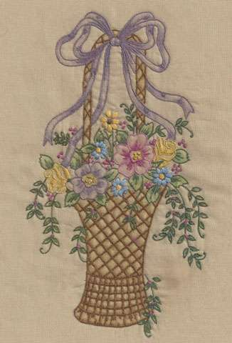 Vintage Basket #2 (Embroidery Design)