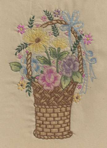 Vintage Basket #4 (Embroidery Design)