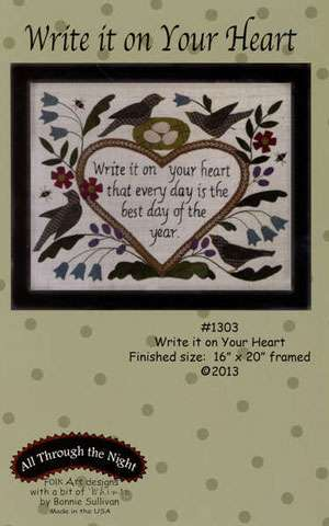 Write It On Your Heart Pattern by Bonnie Sullivan