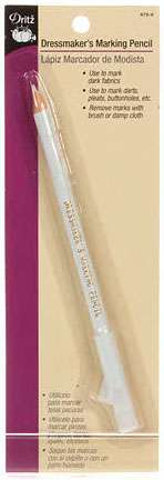 Dritz - White Marking Pencil with Brush