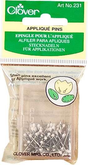 Clover Applique Pins (size 12, 3/4 inch, 150 pins)