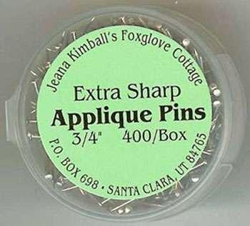 "Extra Sharp Applique Pins 3/4"" (400/Box)"