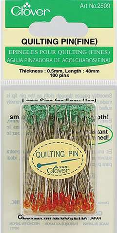 Clover Fine & Long Quilting Pins