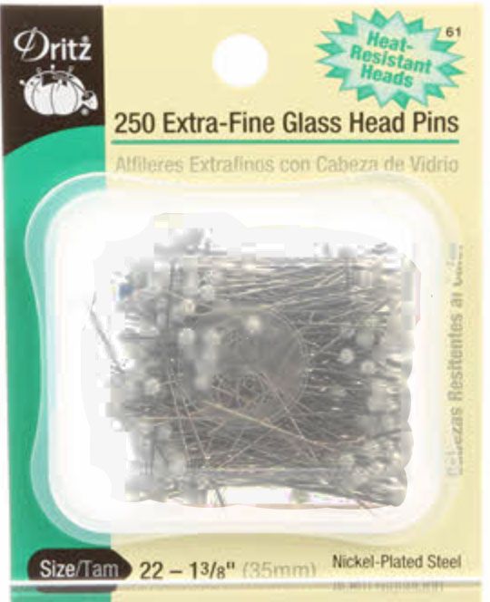 Dritz Extra-Fine Glass Head Pins (250 per box) (61) preview