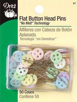 Dritz Flat Button Head Pins (50/packet - Size 24, 1.5in)