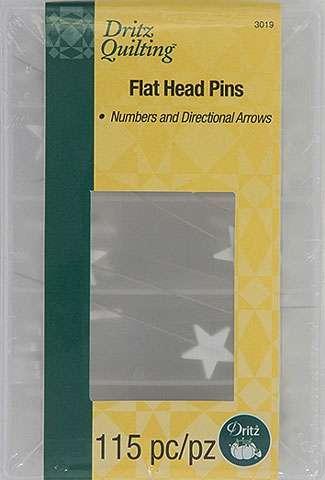Dritz Flat Head Pins - Plain, Numbers & Directional Arrows