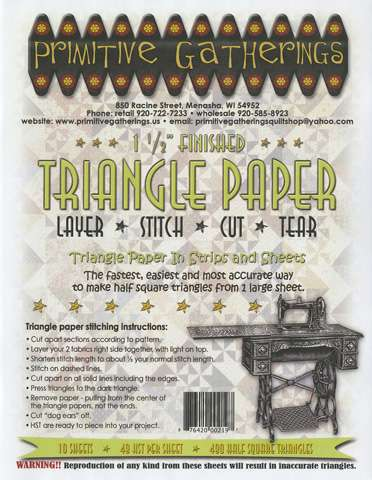 1-1/2in Triangle Paper (10 sheets, 49 HST per sheet)