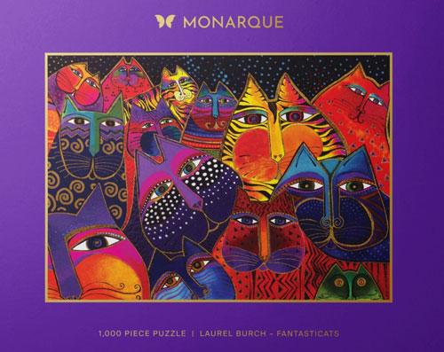 Laurel Burch 1000 piece Puzzle Fantasticats preview