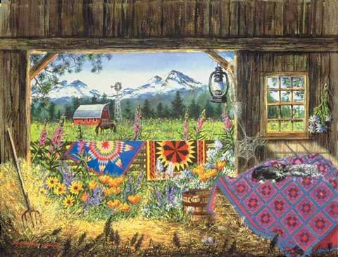 Hole in the Barn Door - 500 Piece Jigsaw Puzzle