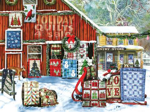 Holiday Quilts Puzzle - 1000pc