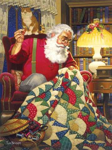 Quilting Santa - 1000 Piece Jigsaw Puzzle