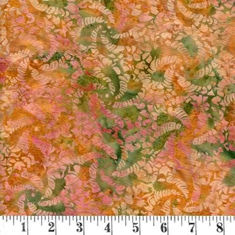 Q980 Batik - crochet - dusty peach