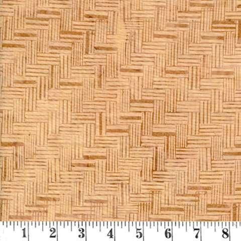 Q992 Batik - basket weave - latte
