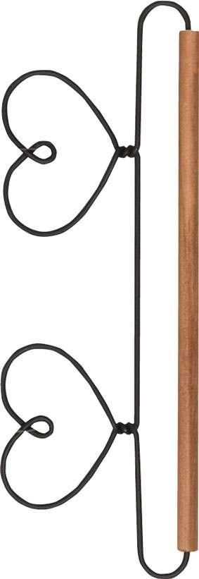 """20cm Quilt Hanger with Dowel """"Heart"""""""