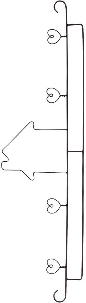 "40cm Quilt Hanger ""House & Hearts"""