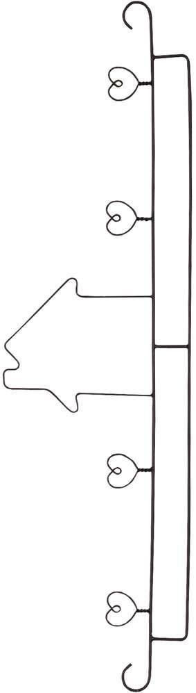 "50cm Quilt Hanger ""House & Hearts"""