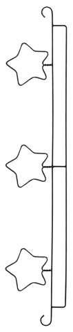 """50cm Quilt Hanger """"Stars"""""""
